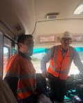 Gavin and Michael from Stratford Coal on Mine Tour for delegates 7th Nov 2019.