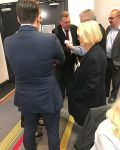 The Honorable Anthony Roberts, Minister for Planning, mingling with delegates, August 2017.