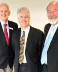 Deputy Chair Chis Connor (Wollongong City Council), Shadow Minister for Industrial Relations Adam Searle, Chairman Peter Shinton (Warrumbungle Shire Council), February 2017 at Association meeting.