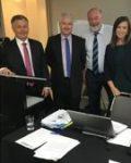 Mick Veitch MLC Labor, Adam Searle MLC Labor Chair Cr Peter Shinton and Cr Mel Dagg - Executive Comitee at 9th Feb 2019 Ordinary meeting Sydney