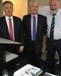 Mick Veitch MLC Labor, Adam Searle MLC Labor and Chair Cr Peter Shinton at 9th Feb 2019 Ordinary meeting Sydney