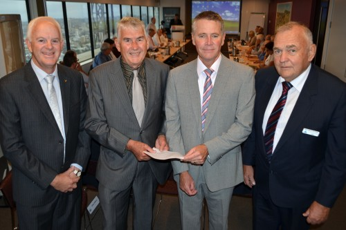 Association of Mining Related Councils Deputy Chair, Cr. Chris Connor, CEO Don Tydd, Deputy Premier, the Hon. Andrew Stoner and AMRC Chair, Cr. Col Mitchell at the recent meeting.