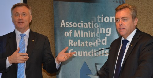 Shadow Minister Mick Veitch and Minister Anthony Roberts, made consecutive presentations to the AMRC at the Association's recent meeting.