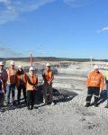MERC Delegates on site at Whitehaven's Maules Ck Coal mine